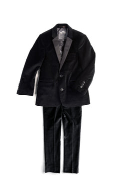 Appaman boys Mod Suit Jacket In Black Velvet