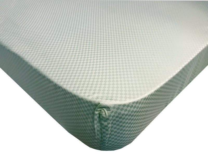 Organic Cotton Crib Fitted Sheet Sage Green Check