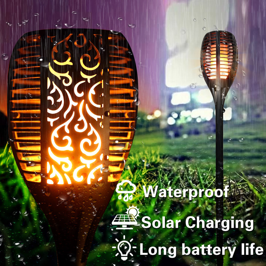 SA Waterproof Solar Flame Light