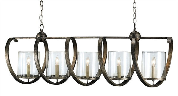 Maximus Rectangle Chandelier- Currey & Co 9915