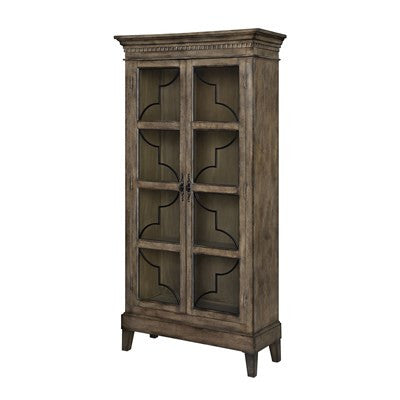 Crestview Wyndham 2 Door Wood & Veneer Glass Door Cabinet CVFZR1426 - Rustic Edge