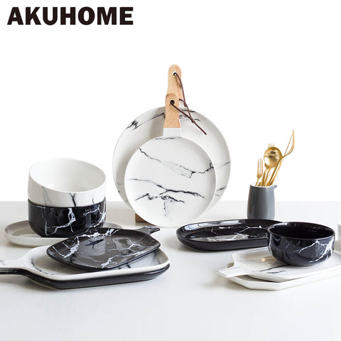 European Marble Ceramic Tableware