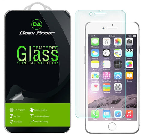 [2-Pack] Apple iPhone 7 Screen Protector, Dmax Armor® [Tempered Glass] 9H Hardness, Anti-Scratch, Anti-Fingerprint, Bubble Free, Ultra-clear