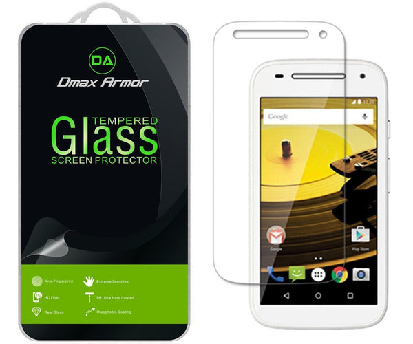 Dmax Armor® Motorola Moto E 4G LTE (2nd Generation) Screen protector [Tempered Glass] Ballistics Glass, 99% Touch-screen Accurate, Anti-Scratch, Anti-Fingerprint, Bubble Free, Round Edge [0.3mm] Ultra-clear, Maximum Screen Protection [1 Pack]