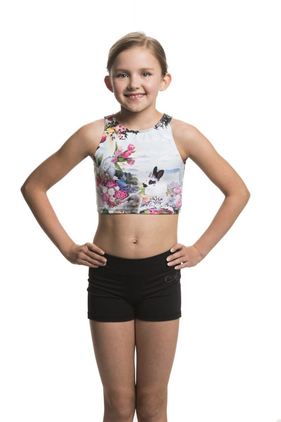 Girls Crop Top with Ballet Bunnies - AW321BB G