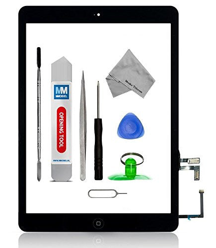 iPad Air Zwart Digitizer Scherm Glas Touch Screen Front Display