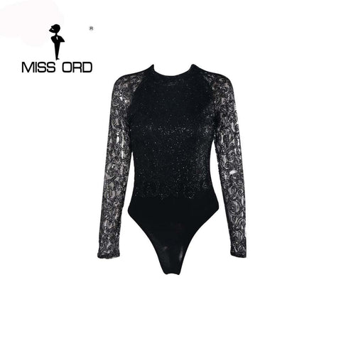 Diamond Cause Bodysuit Black