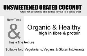 Organic Desiccated or Grated Coconut 350g Box Product Highlights