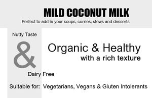 Organic Coconut Milk - Mild - 200ml Product Highlights