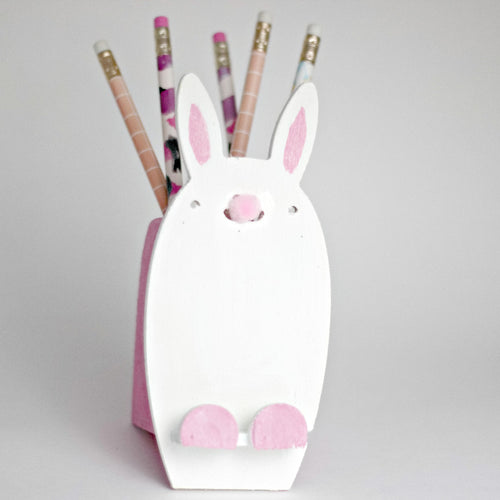 Kid's Bunny Cellphone & Pencil Holder (one time kit not a subscription)