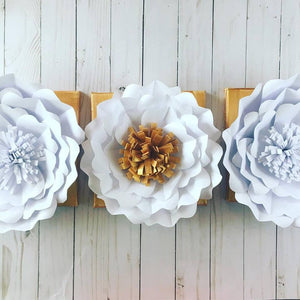 DIY Flowers on Canvas from 3 Month Craft Subscription Box