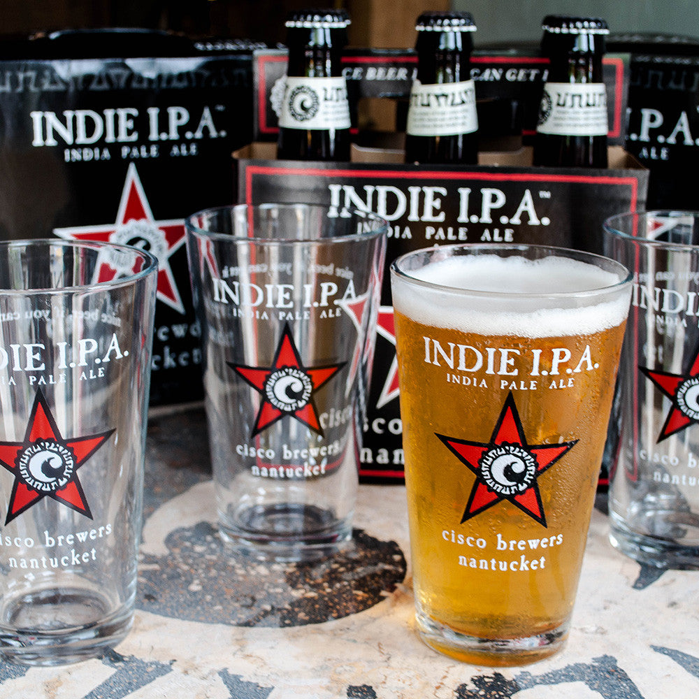 INDIE IPA PINT GLASS- 4 PACK
