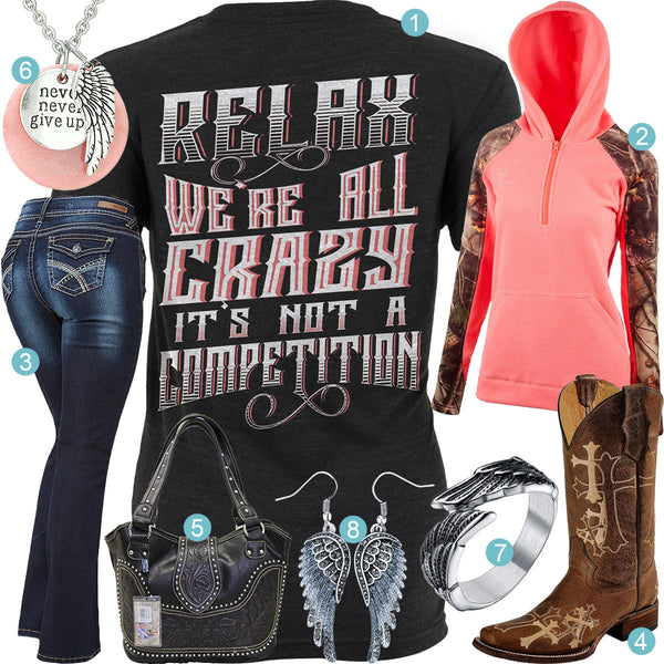 Relax We're All Crazy Outfit