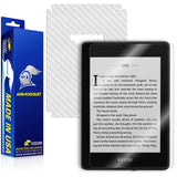 Amazon Kindle Paperwhite (2018) Screen Protector + White Carbon Fiber Skin