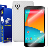 LG Nexus 5 Screen Protector + White Carbon Fiber Film Protector