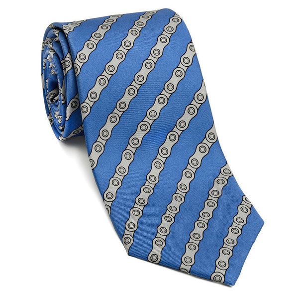 Josh Back 100% silk necktie | Bike Chain