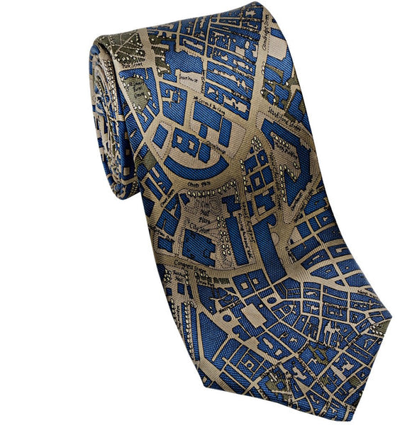 Josh Back 100% silk necktie | Boston City Map