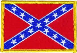 "Confederate Embroidered Flag Patch - 7"" x 11"""