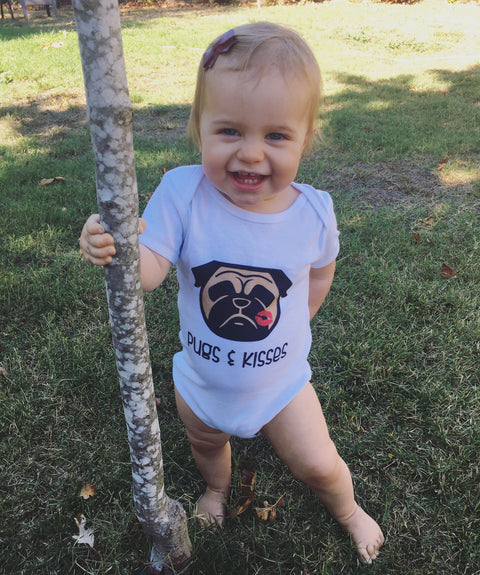Pugs & Kisses Infant short sleeve one-piece