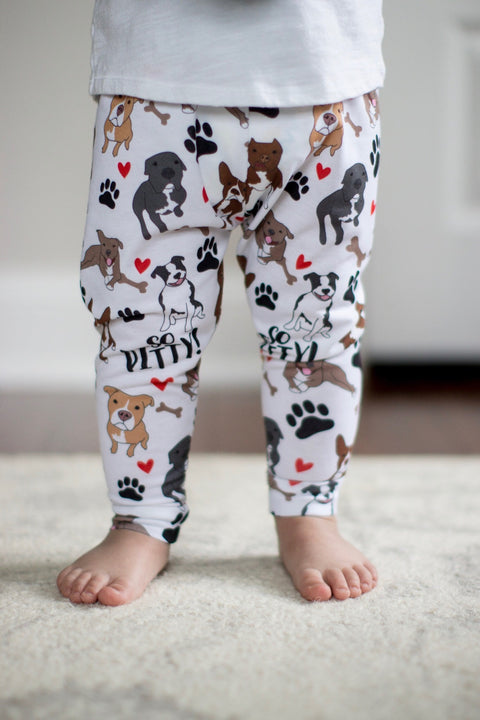 So Pitty Pitbull Print Leggings