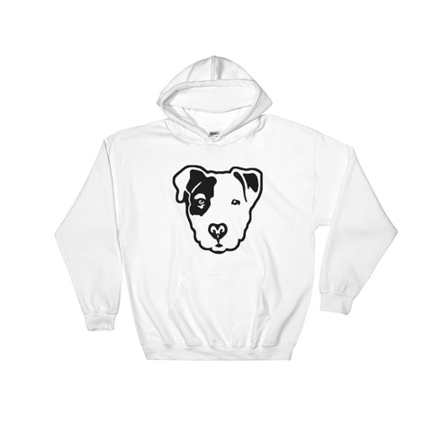 Pitbull Face Hooded Sweatshirt