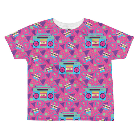 80's Boom Box All-over kids sublimation T-shirt