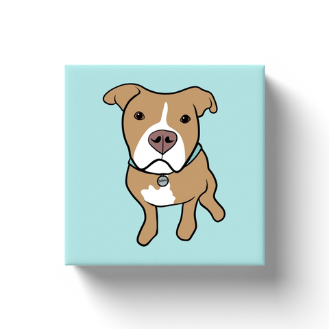 Tan Pitbull Canvas Wraps