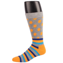 RioRiva Men Dress Socks Polka Dot -Big & Tall Fun Designed Patterned Colorful