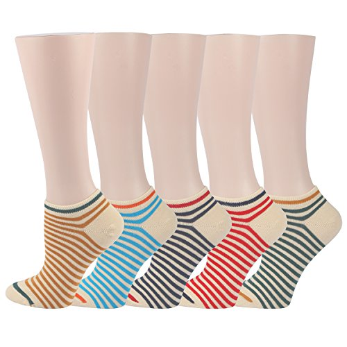 RioRiva Women Fashion Designs No Show Socks - Low cut Cotton Ankle Socks Patterned