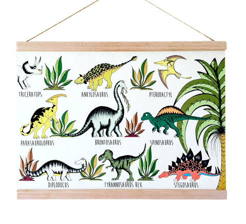 Art Hanger - In The Jungle Dinosaur Name Chart - A3+