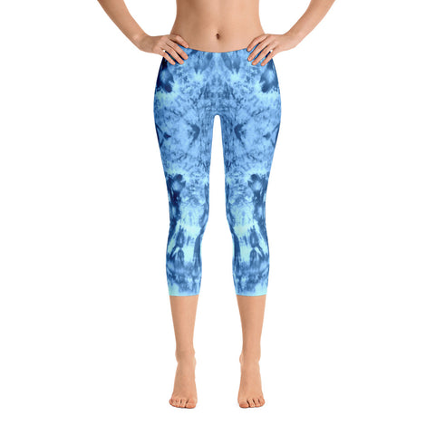 Cosmic Blues Capri Leggings