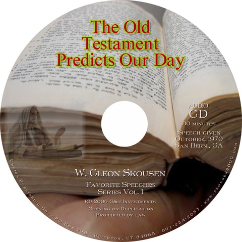 Old Testament Predicts Our Day Speech