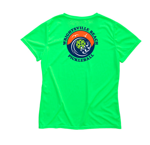 Wrightsville Beach Pickleball Ladies Performance T-Shirt - Back Logo