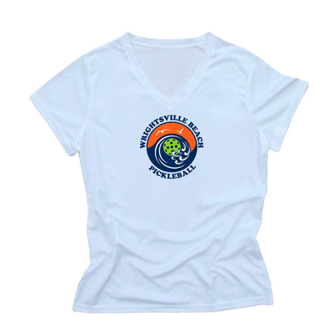 Wrightsville Beach Pickleball Ladies Performance T-Shirt - Front Logo