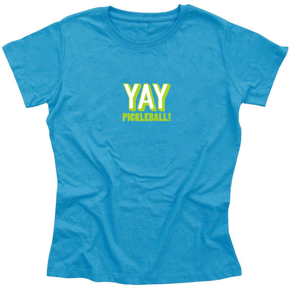 YAY Pickleball! Ladies Pickleball T-Shirt - Vintage Casual Cotton Blend