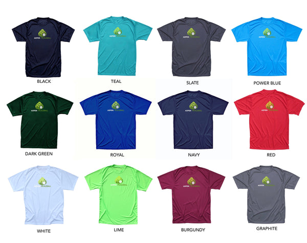 Aspen Pickleball Men's Performance T-Shirt - Front Logo