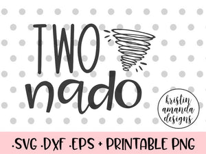 Two-nado SVG DXF EPS PNG Cut File • Cricut • Silhouette