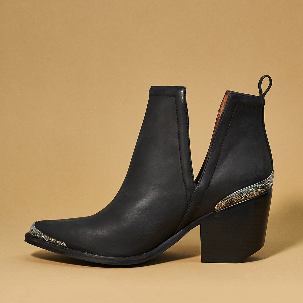 Jeffrey Campbell Cromwell Black Distressed - Shoe Market NYC