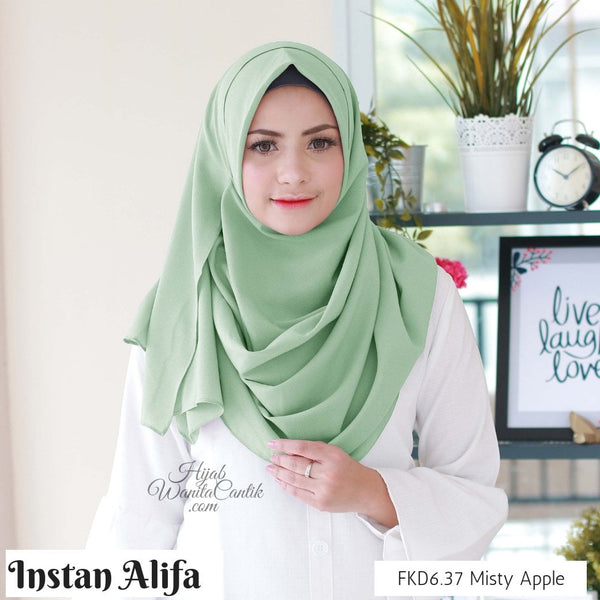 Pashmina Instan Alifa - FKD6.37 Misty Apple