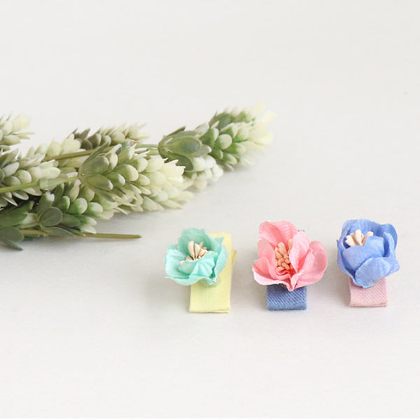 nelly flower non-slip tong pin (3 colours)