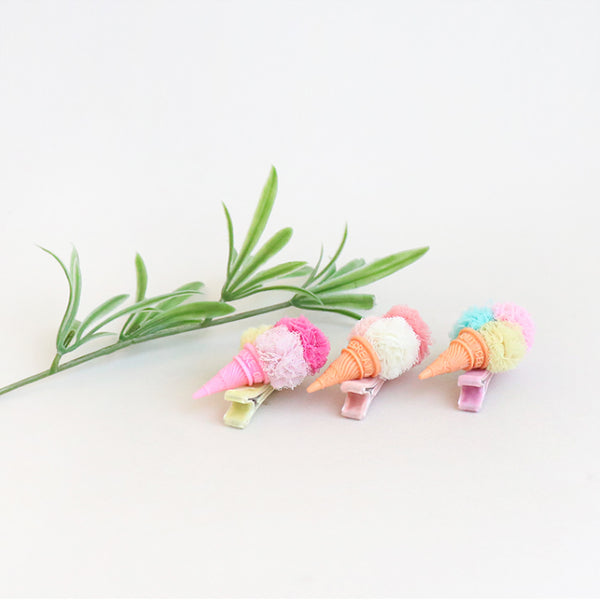 pompom ice cream non-slip grip pins (3 colours)