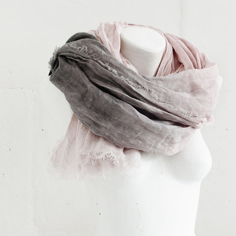 Hand Dyed Linen Scarf