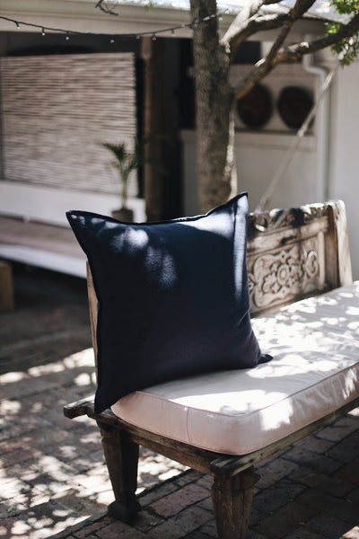 Midnight Navy Square Scatter Cushion