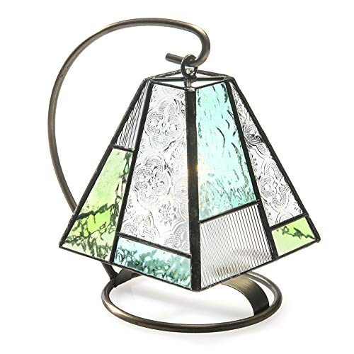 Sage Green and Blue Mini Lamp