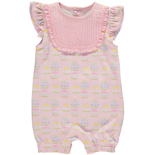 Merry-Go-Round Baby Pink Romper,Romper,Rockin' Baby-The Little Clothing Company