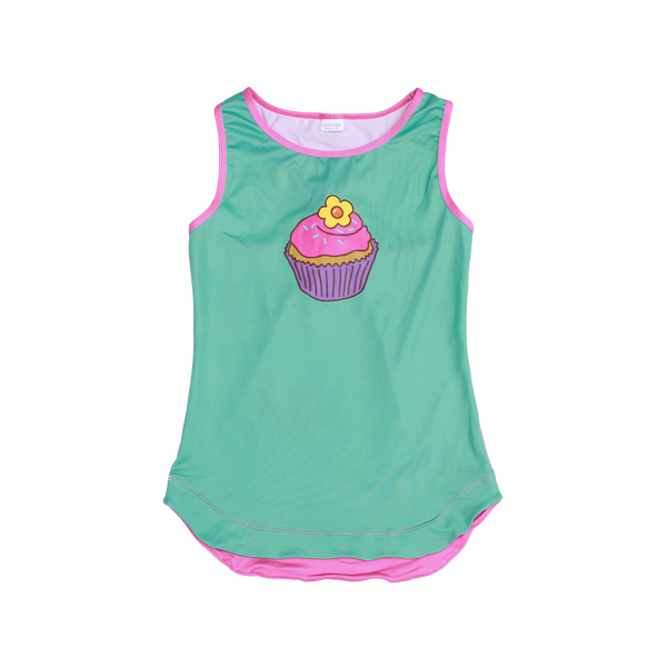 Sprinkles Girl Racer Back Tank,Shirts,Chooze-The Little Clothing Company