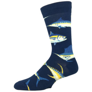 Just For Sport Fishing Socks In Blue By SockSmith