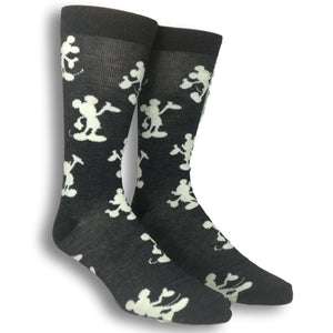 2 Pair Pack Disney Mickey Mouse Silhouette Socks - The Sock Spot