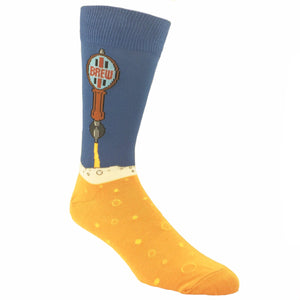 Beer Tap Drink Socks in Blue by SockSmith - The Sock Spot