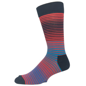 Blue and Red Sunrise Socks by Happy Socks - The Sock Spot